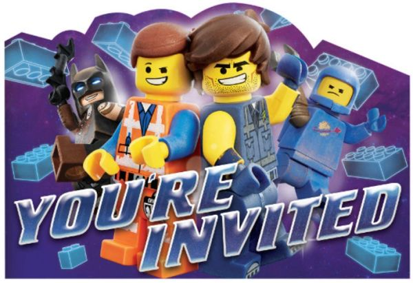 The Lego Movie 2® Postcard Invitations, 8ct