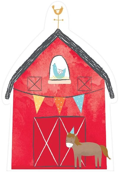 Barnyard Birthday Postcard Invitations, 8ct