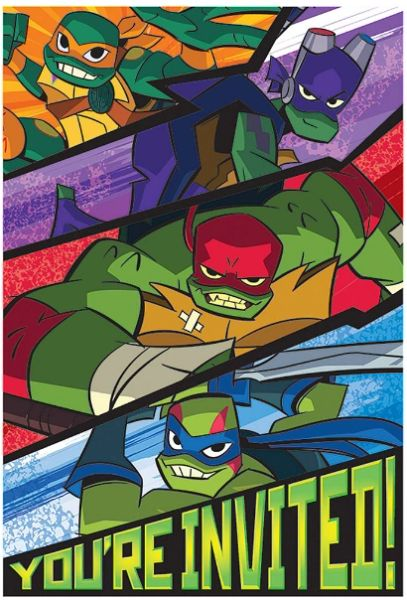 Rise of the TMNT™ Postcard Invitations, 8ct