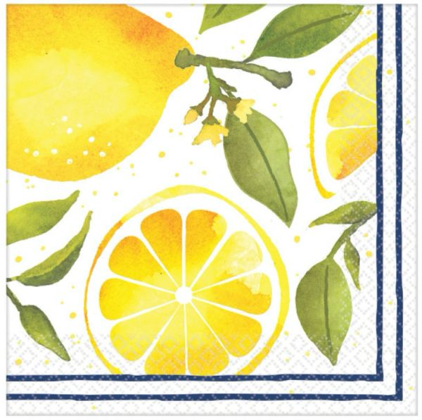 Lemons Luncheon Napkins, 16ct