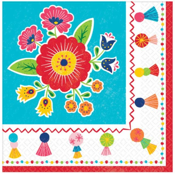 Fiesta Time Luncheon Napkins, 16ct