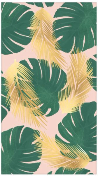 Tropical Paradise Guest Towels - Hot-Stamped, 16ct