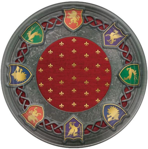 Metallic Medieval Dessert Plates, 8ct