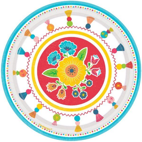 "Fiesta Time Dessert Plates, 7"" - 8ct"