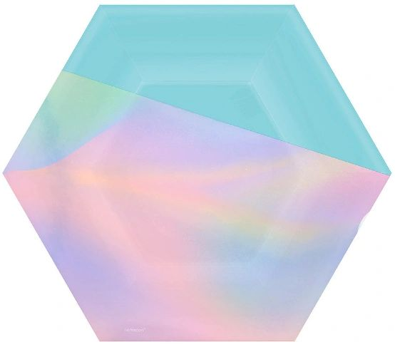 "Shimmering Party Hexagon Lunch Plates, 9"" - 8ct"