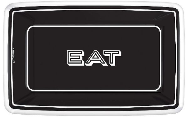 "Eat & Enjoy Rectangle Dessert Plates, 9"" - 8ct"