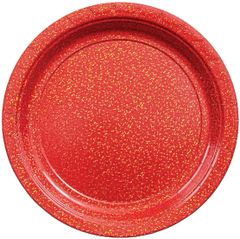 """Prismatic Red Lunch Plates, 9"""" - 8ct"""