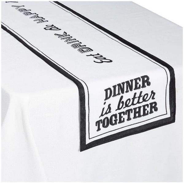 Eat & Enjoy Fabric Table Runner