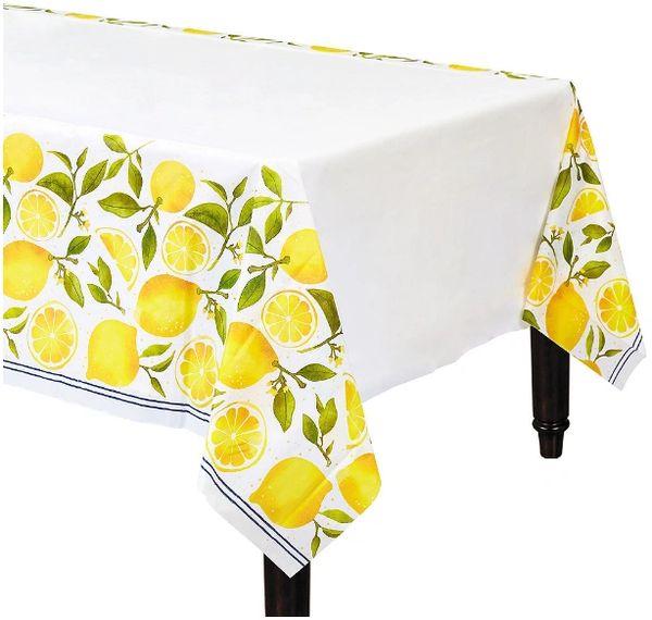 Lemons Plastic Table Cover