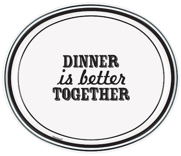 "Eat & Enjoy Oval Plates, 12"" - 8ct"
