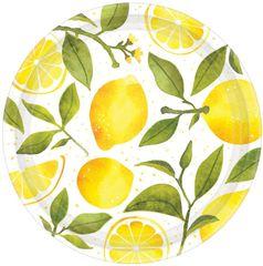 """Lemons Dinner Plates, 10 1/2"""" - 8ct"""