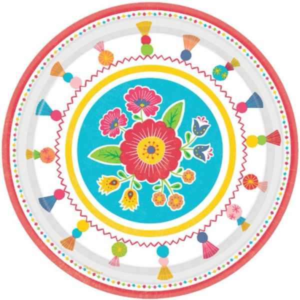 "Fiesta Time Dinner Plates, 10 1/2"" - 8ct"