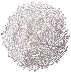 Bloom Pressed Vinyl Placemat - Silver