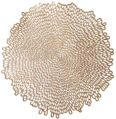 Metallic Gold Blossom Vinyl Placemat