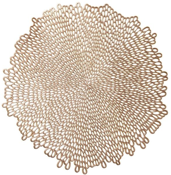 Bloom Pressed Vinyl Placemat - Gold