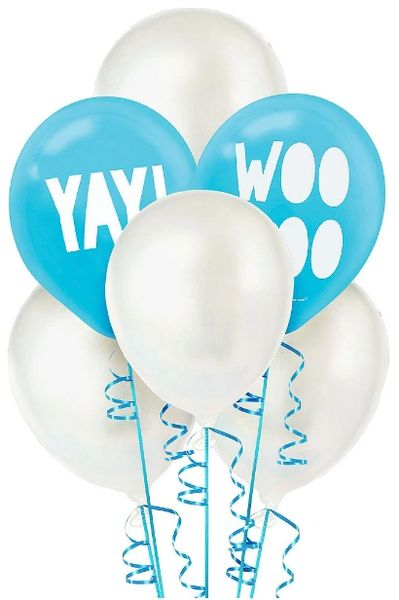 Shimmering Party Latex Balloons, 6ct
