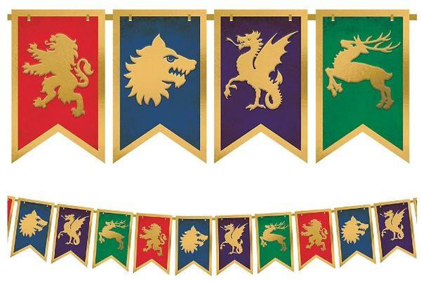 Medieval Pennant Banner, 15ft