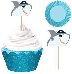 Ahoy Birthday Cupcake Kit for 24