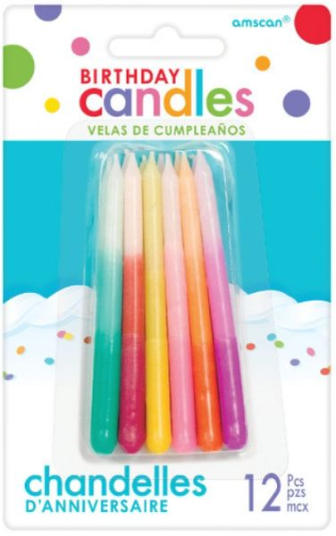 Ombre Candles, 12ct