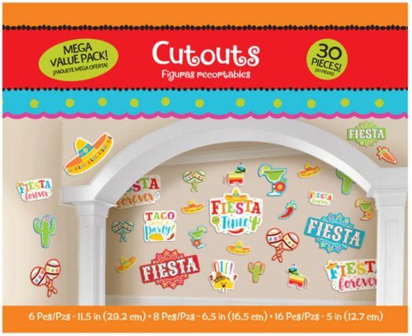 Fiesta Value Pack Cutouts, 30ct