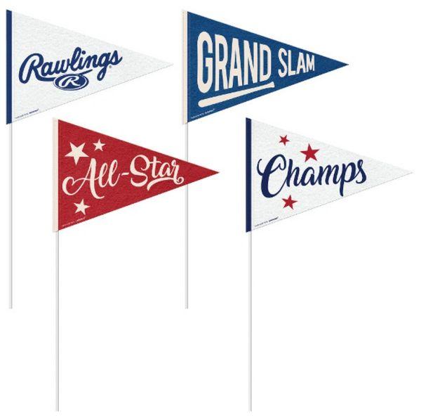 Rawlings™ Small Baseball Pennants, 4ct