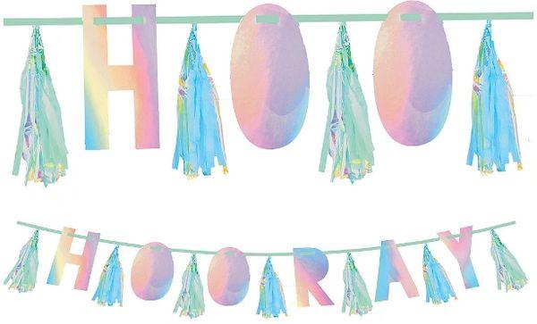 Shimmering Party Hooray Tassel Garland, 10ft