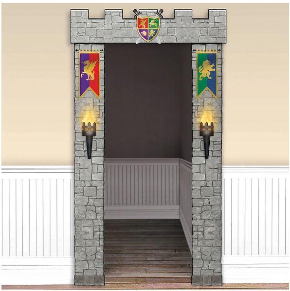Medieval Stone Door Decorations, 3pc
