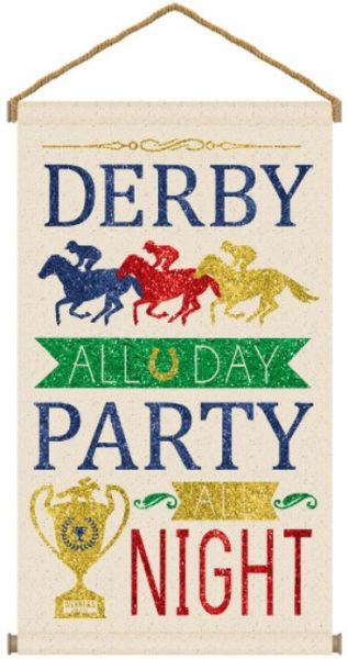 Derby Day Large Hanging Canvas Sign
