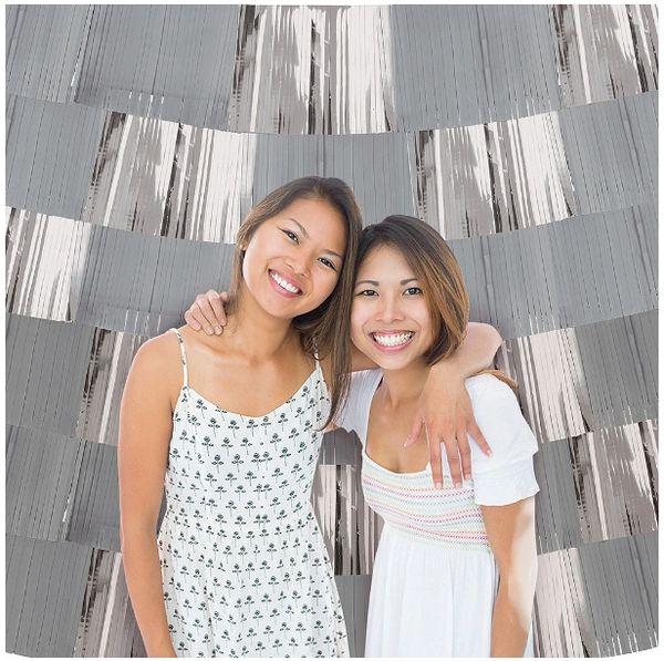 Foil Decorating Backdrop - Silver, 9ct