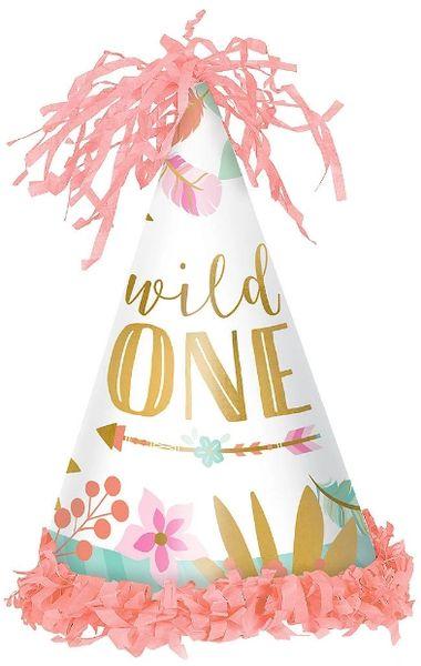 Boho Birthday Girl Cone Hat - Paper