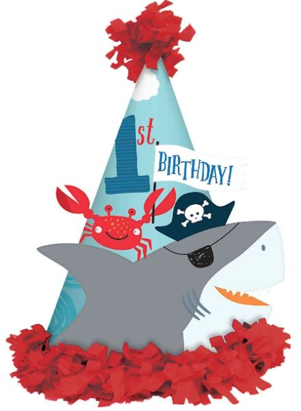 Ahoy Birthday Party Hat