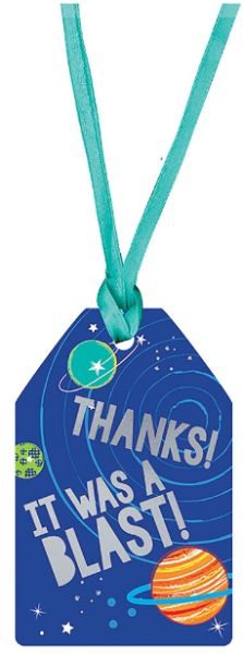 Blast Off Thank You Tags, 25ct
