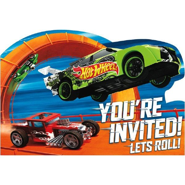 Hot Wheels Wild Racer™ Postcard Invitations, 8ct