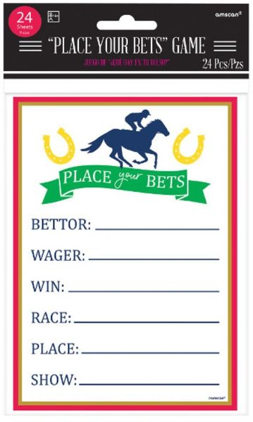 Kentucky Derby Place Your Bets Game Sheets, 24ct