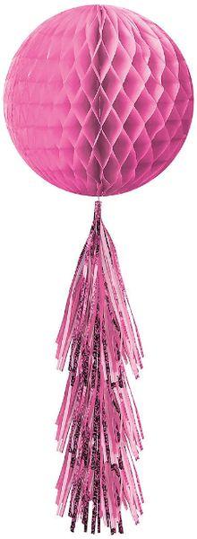 Honeycomb Ball w/ Tail - Bright Pink