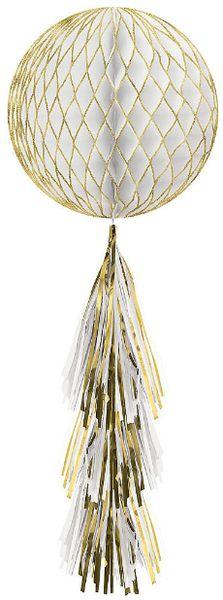Glitter Honeycomb Ball w/ Tail - Gold