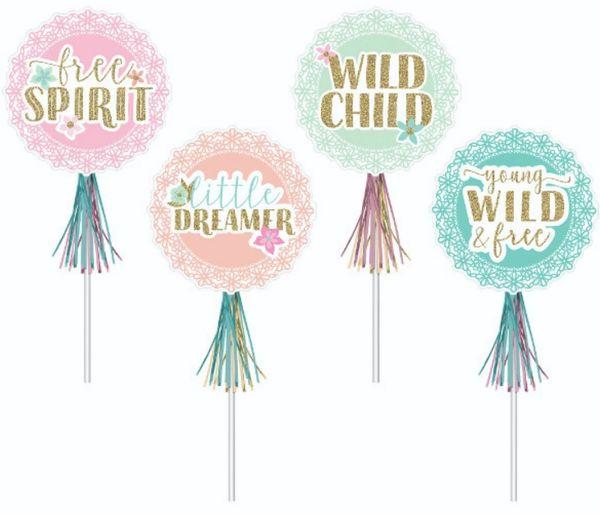 Boho Girl Glitter Wands, 8ct