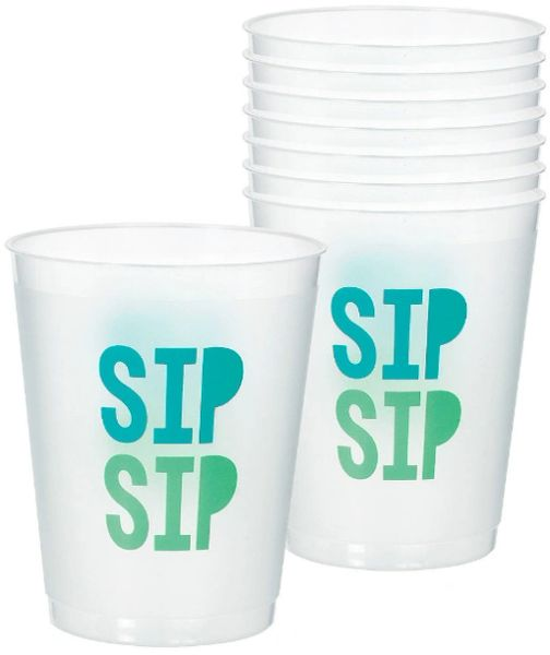 Shimmering Party Frosted Stadium Cups, 8ct