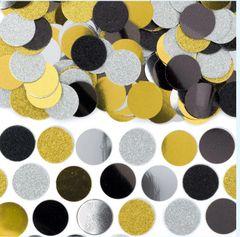 Circle Confetti - Black, Silver, Gold