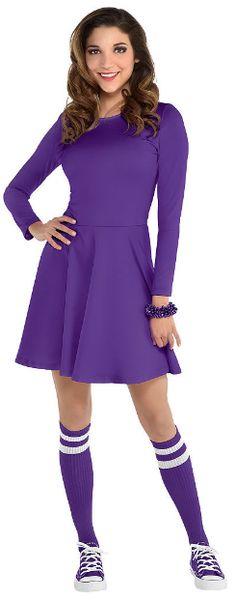 Women's Purple Flare Dress - Adult Standard