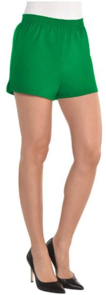 Women's Green Sport Shorts - Adult S/M & L/XL