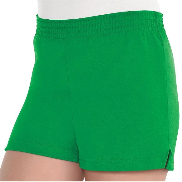 Girls Green Sport Shorts - Child Standard