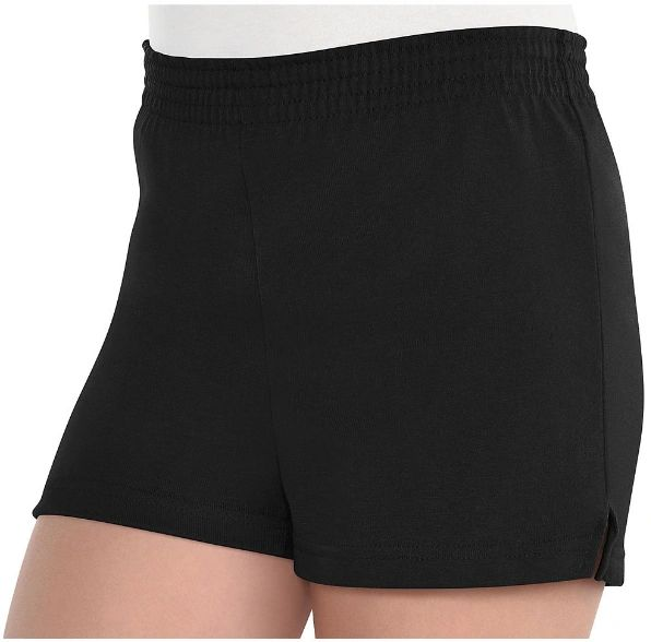Girls Black Sport Shorts - Child Standard