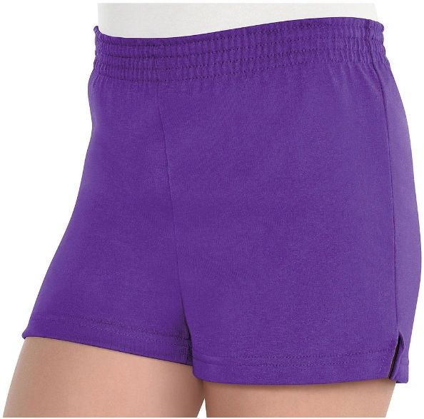 Girls Purple Sport Shorts - Child Standard