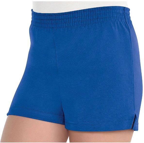 Girls Blue Sport Shorts - Child Standard