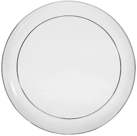 Big Party Pack CLEAR Plastic Snack Plates, 32ct