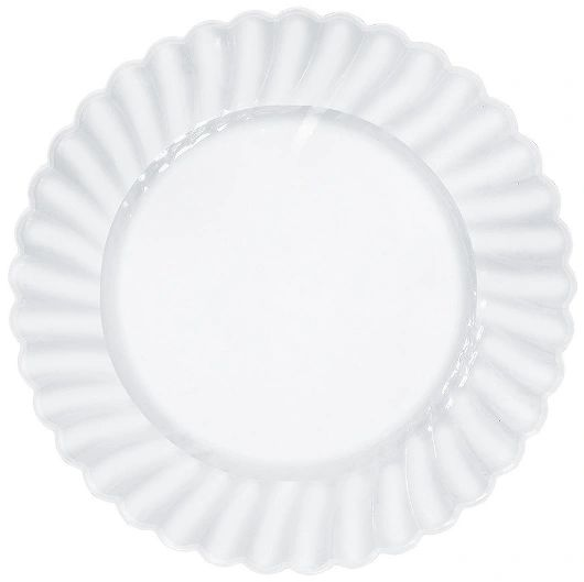 """CLEAR Premium Plastic Scalloped Lunch Plates, 71/2"""" - 12ct"""