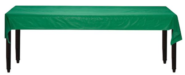 """Festive Green Solid Table Roll, 40"""" x 100'"""