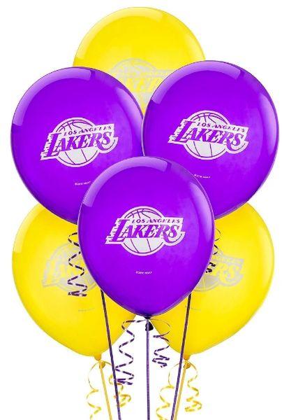 Los Angeles Lakers Latex Balloons, 6ct