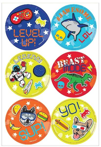 Epic Party Stickers, 24ct